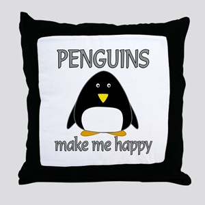 Penguin Happy Throw Pillow