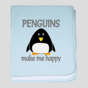 Penguin Happy baby blanket