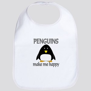 Penguin Happy Bib