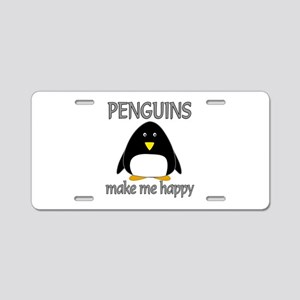 Penguin Happy Aluminum License Plate