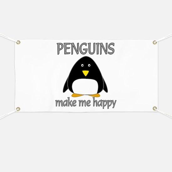 Penguin Happy Banner