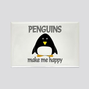 Penguin Happy Rectangle Magnet