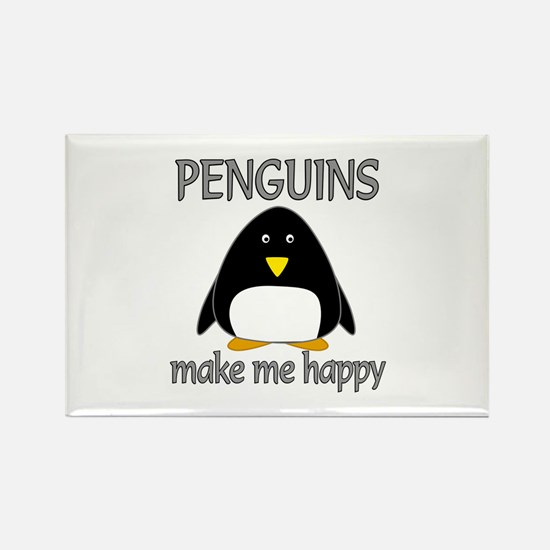 Penguin Happy Rectangle Magnet (100 pack)