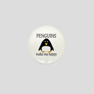 Penguin Happy Mini Button