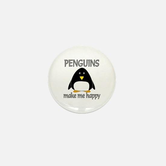 Penguin Happy Mini Button (10 pack)