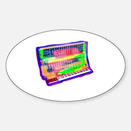 Cute Synth Sticker (Oval)