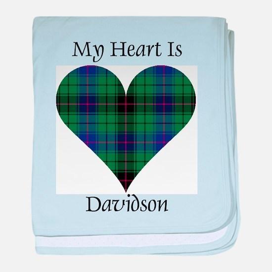 Heart - Davidson baby blanket