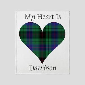 Heart - Davidson Throw Blanket