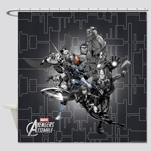 Gray Avengers Shower Curtain