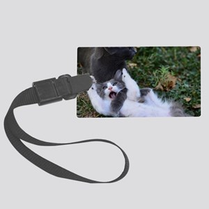 Playful Cats Large Luggage Tag