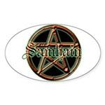 """Samhain Pentacle"" Oval Sticker"