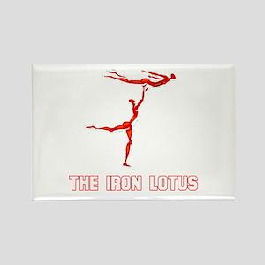 The Iron Lotus Rectangle Magnet