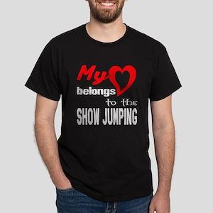 My Heart belongs to the Show Jumping Dark T-Shirt
