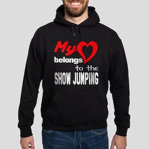 My Heart belongs to the Show Jumping Hoodie (dark)