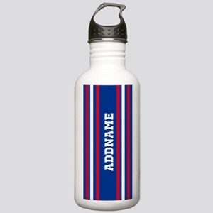 Red White Blue Sports Stainless Water Bottle 1.0L