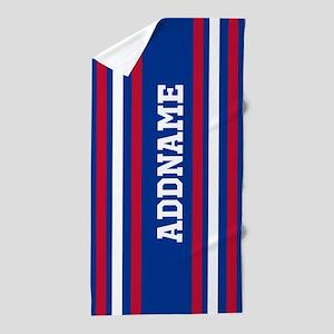 Red White Blue Sports Jersey Custom Na Beach Towel
