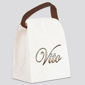 Gold Vito Canvas Lunch Bag