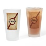 Secure The Border Drinking Glass