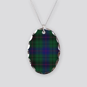 Tartan - Davidson Necklace Oval Charm
