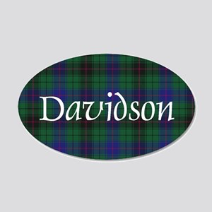 Tartan - Davidson 20x12 Oval Wall Decal
