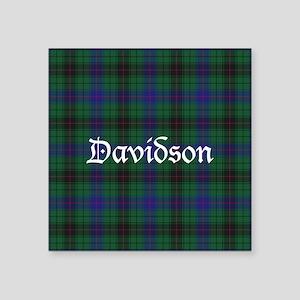 "Tartan - Davidson Square Sticker 3"" x 3"""