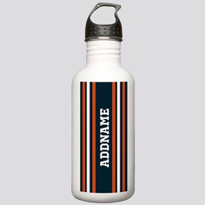 Blue and Bright Orange Stainless Water Bottle 1.0L