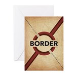 Secure The Border Greeting Cards