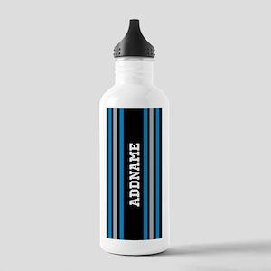 Black Blue White Silve Stainless Water Bottle 1.0L