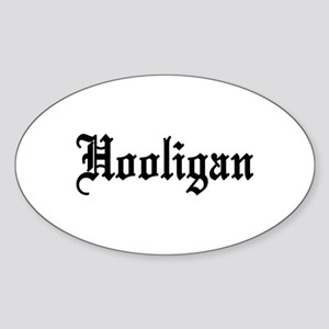 Hooligan Oval Sticker