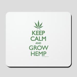 Keep Calm and Grow Hemp - Green Mousepad