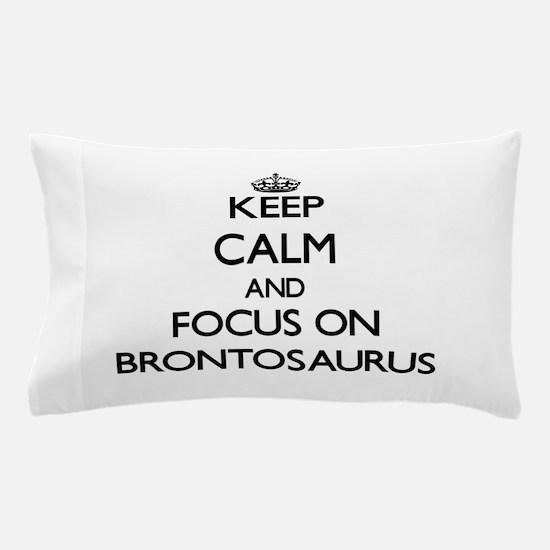 Cute Brontosaurus Pillow Case