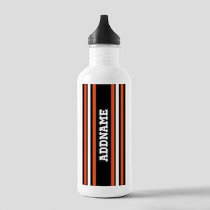 Custom Orange Black Wh Stainless Water Bottle 1.0L
