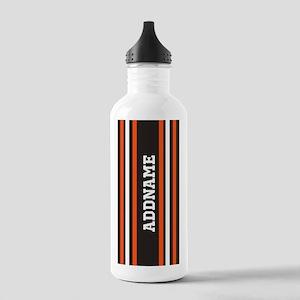 Gray Orange White Stri Stainless Water Bottle 1.0L