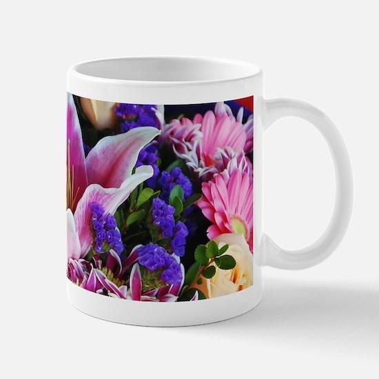 Pink lily wedding bouquet Mugs
