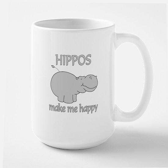 Hippo Happy Large Mug