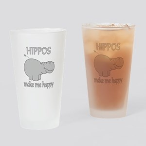 Hippo Happy Drinking Glass