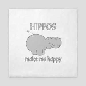 Hippo Happy Queen Duvet