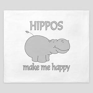 Hippo Happy King Duvet