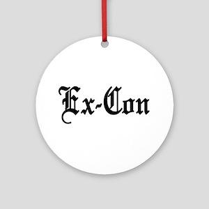 Ex-Con Ornament (Round)