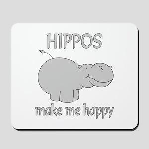 Hippo Happy Mousepad