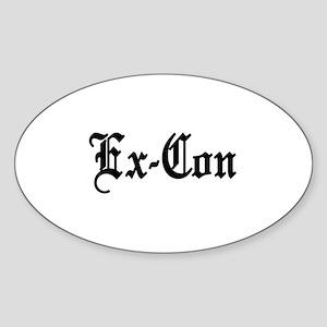 Ex-Con Oval Sticker