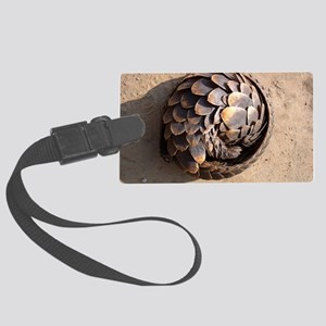curled up pangolin Large Luggage Tag