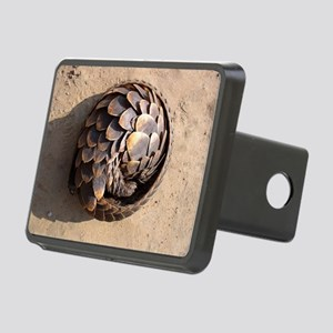 curled up pangolin Rectangular Hitch Cover