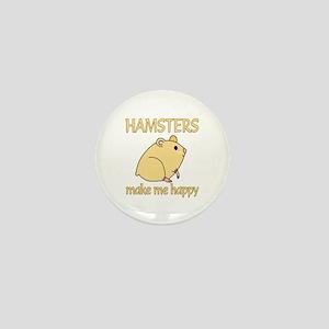 Hamster Happy Mini Button