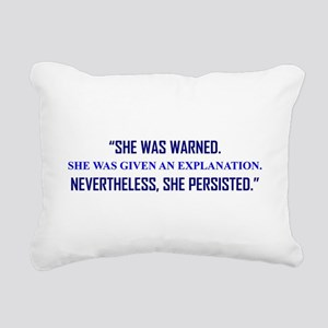 SHE PERSISTED. Rectangular Canvas Pillow