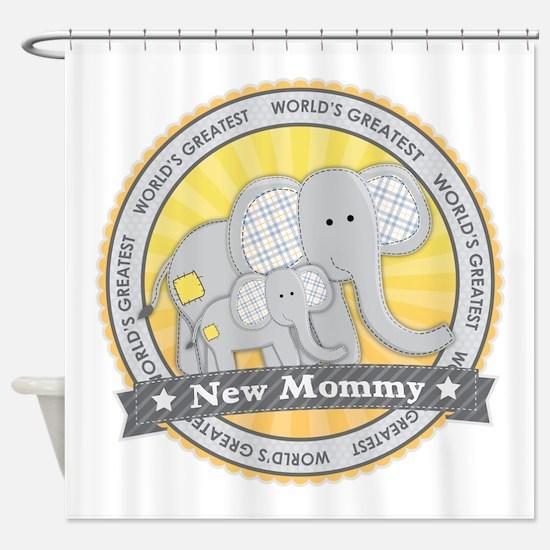 New Mom Elephant Shower Curtain