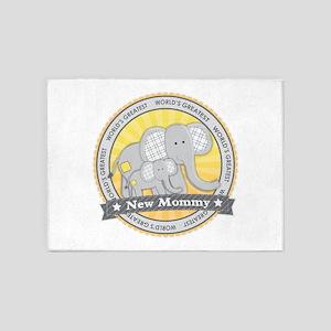 New Mom Elephant 5'x7'Area Rug