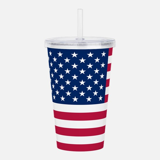 Patriotic American Flag Acrylic Double-wall Tumble