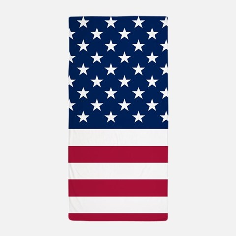 Patriotic American Flag Beach Towel