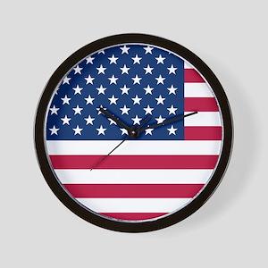 Patriotic American Flag Wall Clock